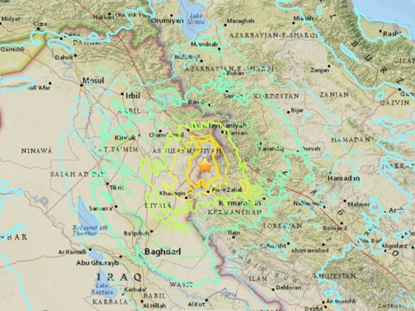 Earth quake hits Iraq and Iran, above 200 killed